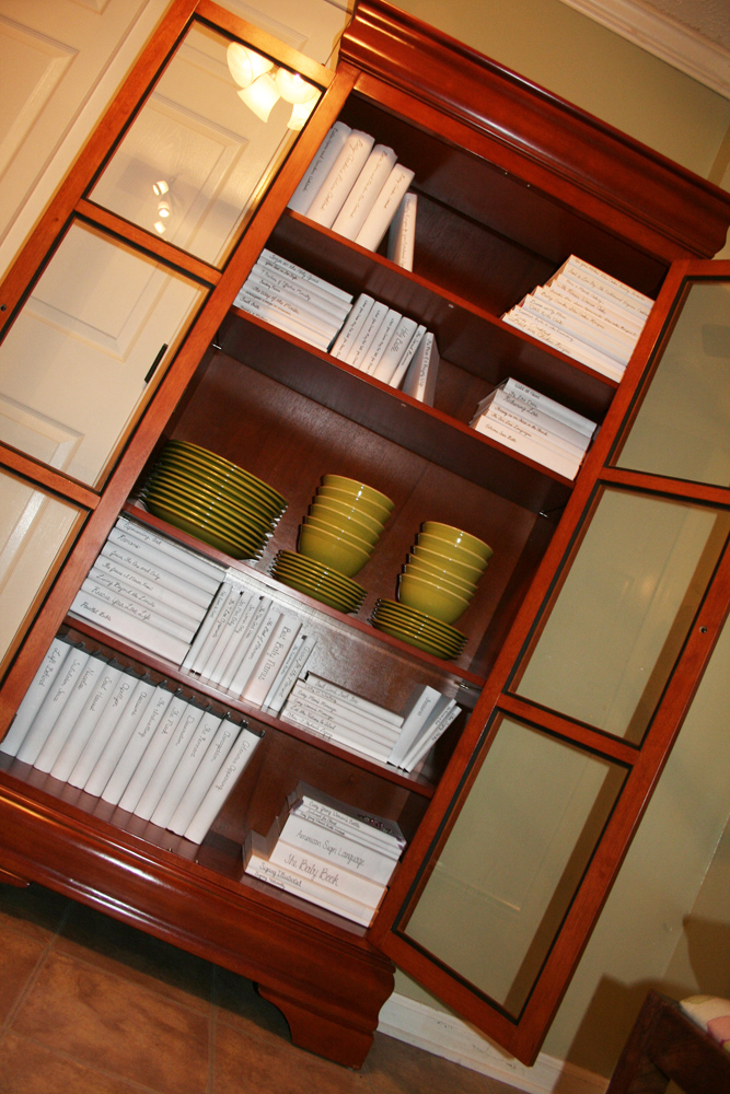 Pic of contents of bookcase